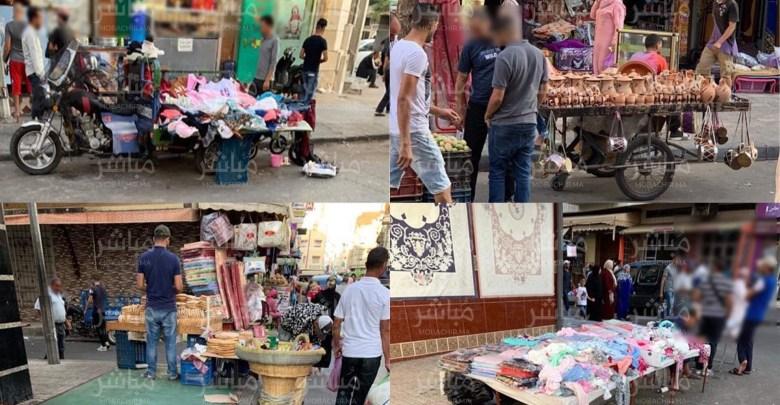 طنجة..فراشة يعودون لإحتلال الرصيف بحي بنكيران أمام صمت السلطات 1