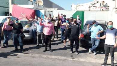 """الكاتب الجهوي لنقابات طنجة يقف على أوضاع عمال شركة """"أمانور"""" المضربين 2"""