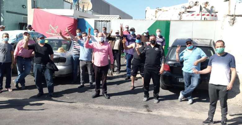 """الكاتب الجهوي لنقابات طنجة يقف على أوضاع عمال شركة """"أمانور"""" المضربين 1"""