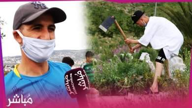 شباب بطنجة يتطوعون لتنظيف مقبرة حي بنكيران 1