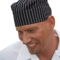 Kitchen Hats Commercial Wall Covering Chef Professional Wear Mobb Medical Gangster Stripe Hat