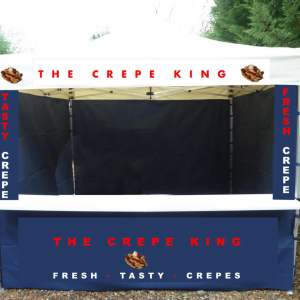 crepe catering gazebo business