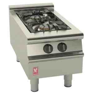 2-burner-propane lpg boiling top catering equipment