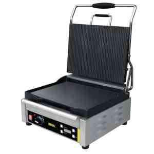 large single contact grill ribbed top plates catering equipment