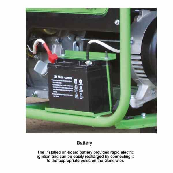 lpg generator battery