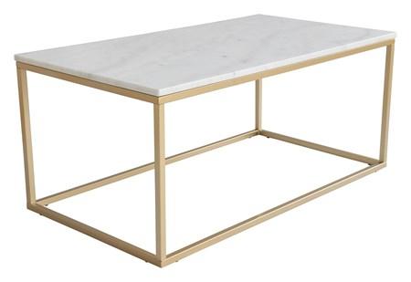 sofabord Accent sofabord rektangulært 110x60 lys marmor/matt messing fra RGE