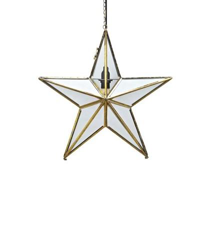 belysning Glasstjerne Ansgar 50 cm - Gull fra Markslöjd