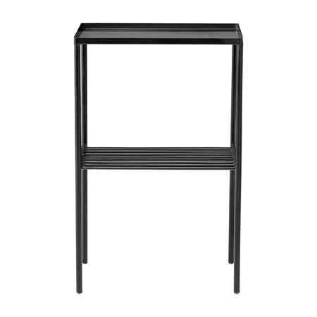 avlastningsbord Grid Sidebord Svart Metall 50x80x30cm fra Bloomingville