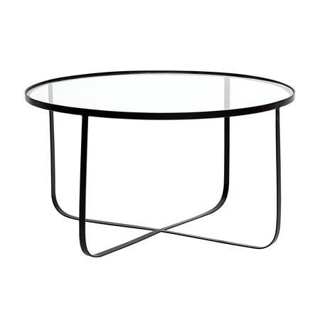 sofabord Harper Sofabord Glass/Svart 80cm fra Bloomingville
