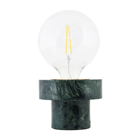 belysning Pin Bordslampe Grønn Marmor D:13 cm fra House Doctor