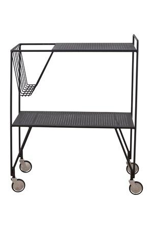 trillebord Use Sidebord på hjul Svart fra House Doctor