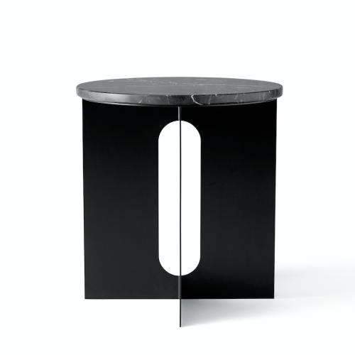 Androgyne side table Black marmor-bord marmor-bord fra Menu