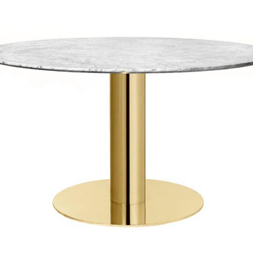 Dining Table 2.0 130 cm m/messing base fra Gubi -