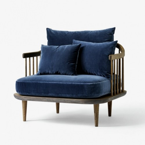 Fly Chair SC1 Smoked oak/velour blue &tradition loungestol loungestol fra &tradition