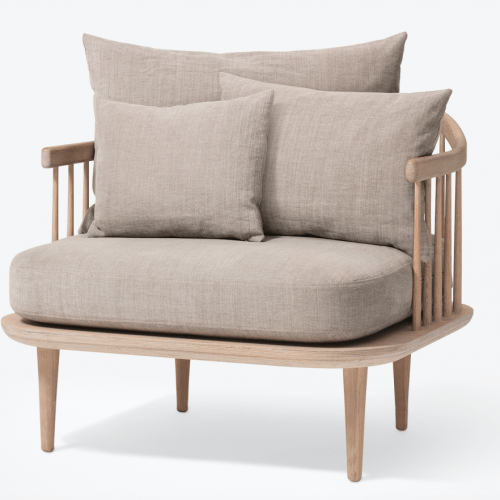 Fly Chair SC1 White oak/hot madison &tradition loungestol loungestol fra &tradition