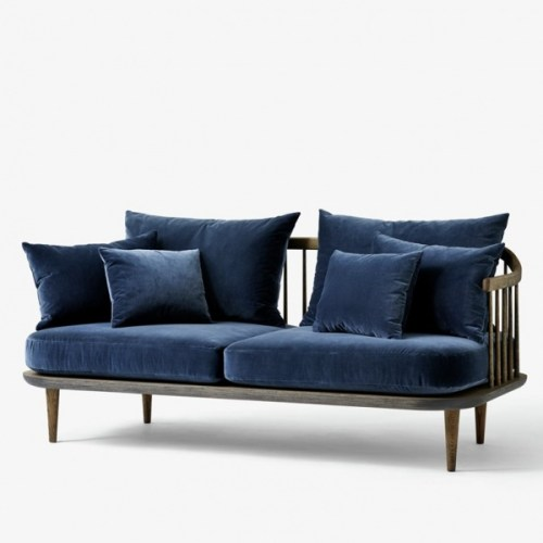 Fly Sofa SC2 Smoked oak/velour blue &tradition velour-sofa velour-sofa fra &tradition