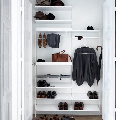 Garderobe nr 2 140cm x 250cm garderobeinnredning garderobeinnredning fra String