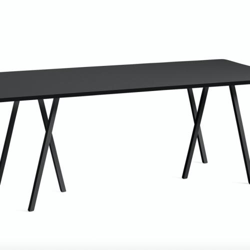 Loop Stand Table HAY Svart skrivebord skrivebord fra Hay