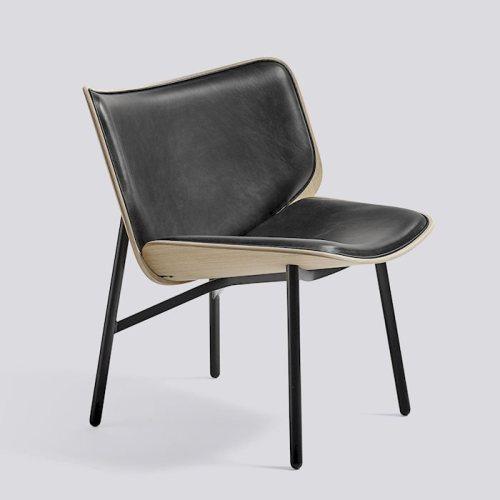 Stol Dapper Lounge - Svart skinn fra Hay -