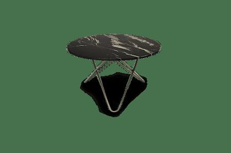 Big O Spisebord Rustfritt Stål/Svart Marmor Ø120 fra OX DENMARQ