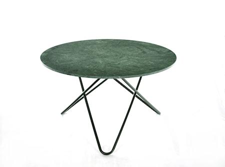 Big O Spisebord Svart/Grønn Marmor Ø120 fra OX DENMARQ