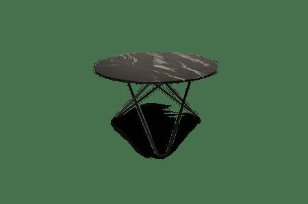 Big O Spisebord Svart/Svart Marmor Ø120 fra OX DENMARQ