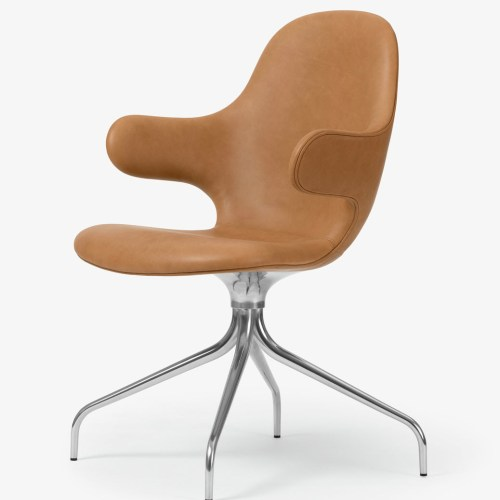 Catch Chair JH2 Leather Cognac - &tradition