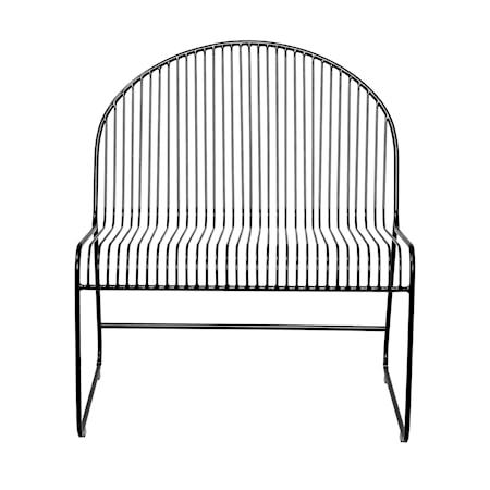 Friend Lounge Stol SvartMetall 72xH80x62