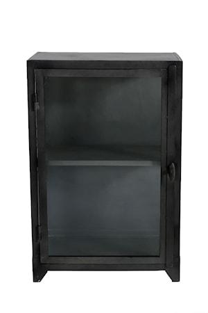 Iron glass cabinet vitrineskap – 1 dør