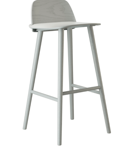 Nerd Bar Stool H:65 Grey - Muuto