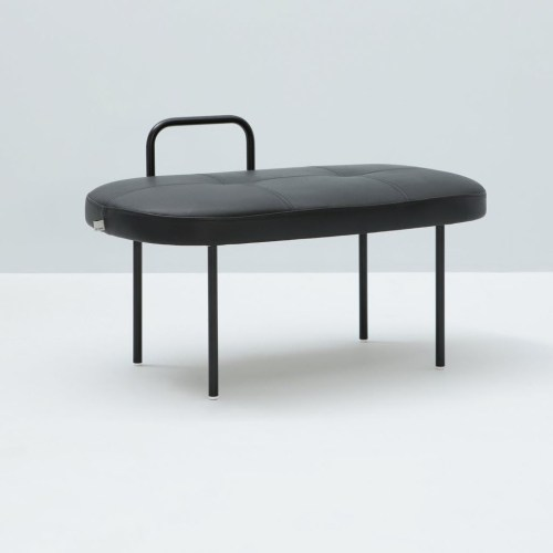 Sol Stool Black leather -