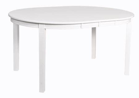 Wittskär Spisebord Ovalt Hvitlakkert 107x150 cm fra Rowico
