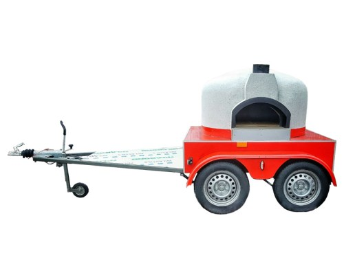 Mobile Wood Fired Pizza Oven – Side oven entrance