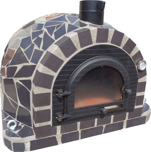 Special offer - Oven + Base + Flue - KIT - Grey Mosaic Model 100x100