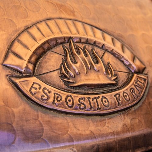 Artisan Copper finish of Esposito Forni pizza ovens