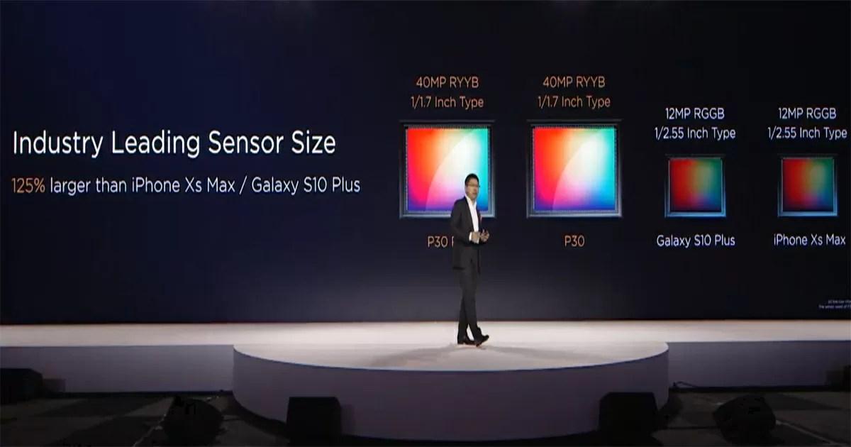 Huawei P30のセンサーサイズがスマホとしては異例の1/1.7インチサイズ