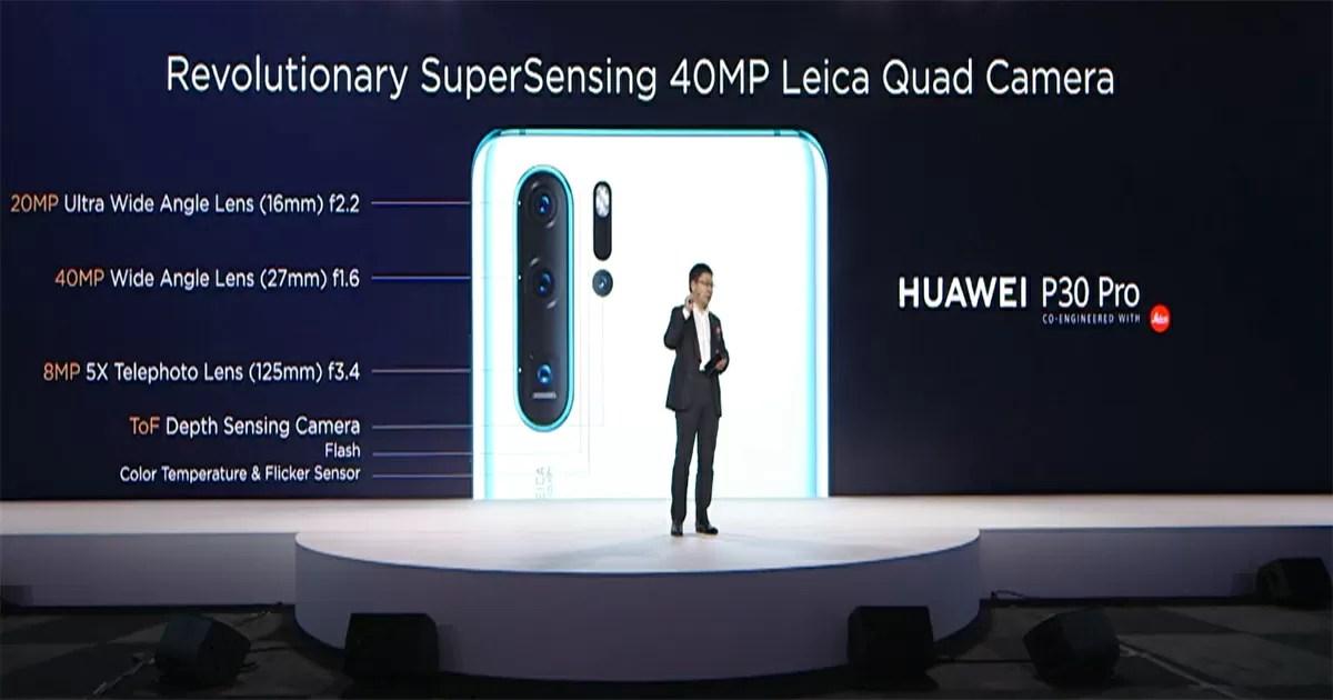 Huawei P30 Proは最大4000万画素のLeicaのクワッドカメラ搭載