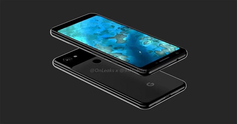 Google Pixel 3aリーク画像(Just Black)