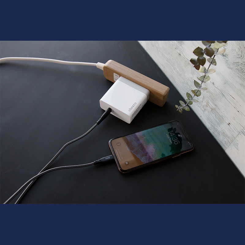 Power Delivery(PD)対応デバイスへ超高速充電が可能