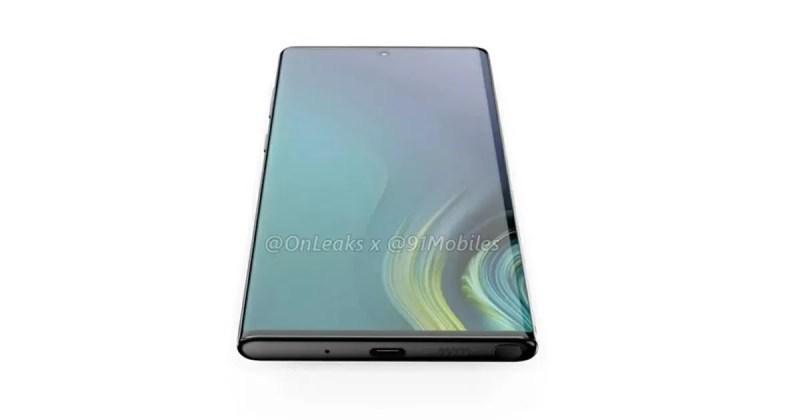 Galaxy Note10 リーク画像 前面