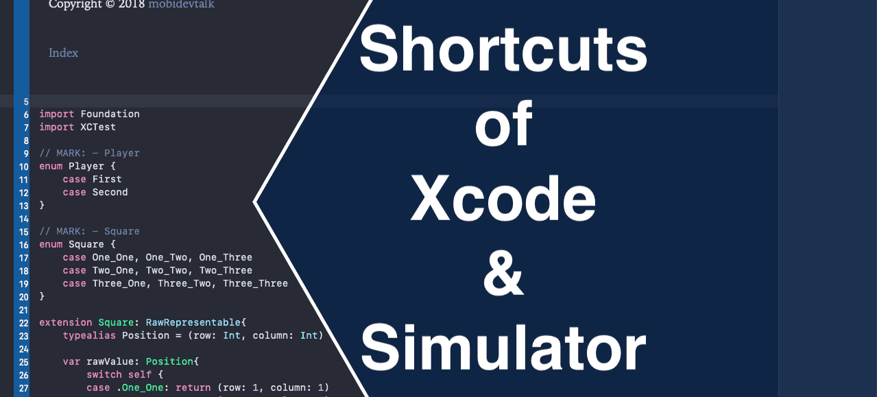 Xcode Shortcuts the iOS Cheat Sheet