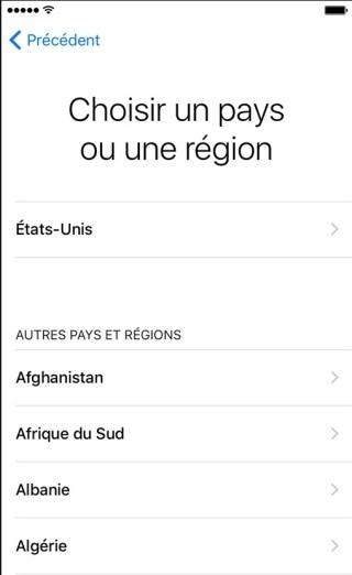 activation iphone etape 2 langues