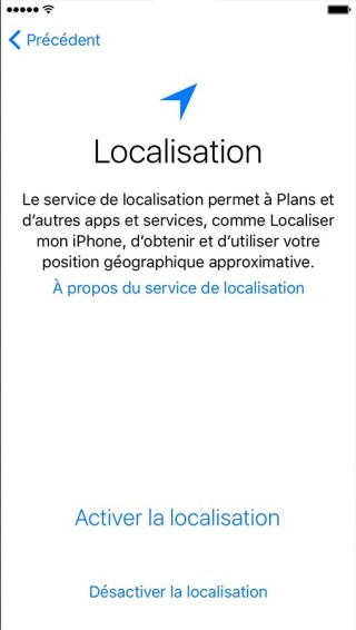 activation iphone etape 4 localisation