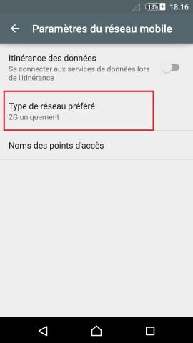 internet Sony android 6 . 0 reglages reseau préféré