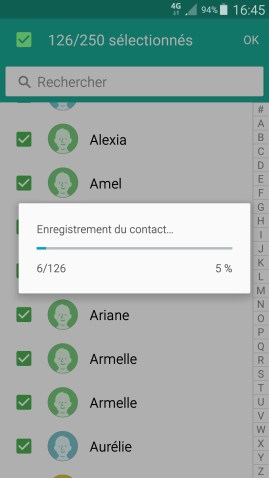 contact code pin ecran verrouillage Samsung android 5 contact copier 2