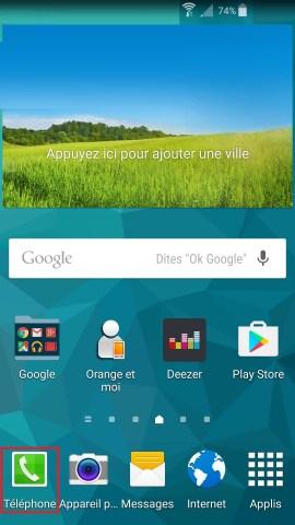 contact code pin ecran verrouillage Samsung android 5