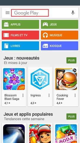 Applications LG G5 google play