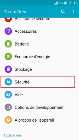 contact code pin ecran verrouillage Samsung android 5 parametre securité