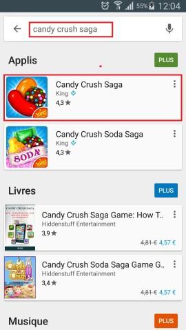 Applications LG G5 recheche play store