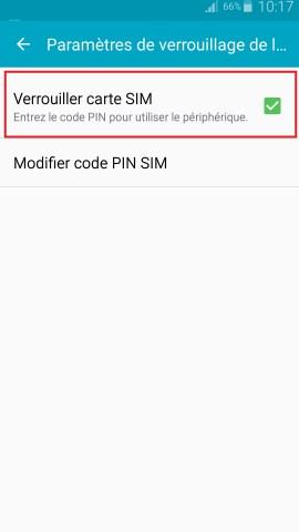contact code pin ecran verrouillage Samsung android 5 verrouiller carte sim
